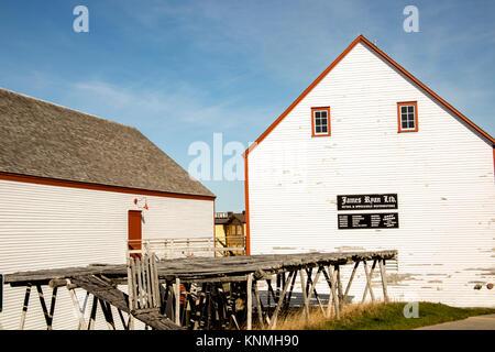 Bonavista, Newfoundland, Canada - November 2, 2017 :  Exterior of James Ryan Premises National Park, Bonavista, - Stock Photo