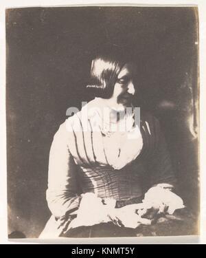 [Woman]. Artist: Calvert Richard Jones (British, Swansea, Wales 1802-1877 Bath, England); Date: 1845-50; Medium: - Stock Photo