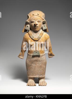 Standing Figure. Date: 1st-5th century; Geography: Ecuador; Culture: Jama-Coaque; Medium: Ceramic; Dimensions: H. - Stock Photo