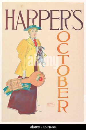 Harper´s, October. Artist: Edward Penfield (American, Brooklyn, New York 1866-1925 Beacon, New York); Publisher: - Stock Photo