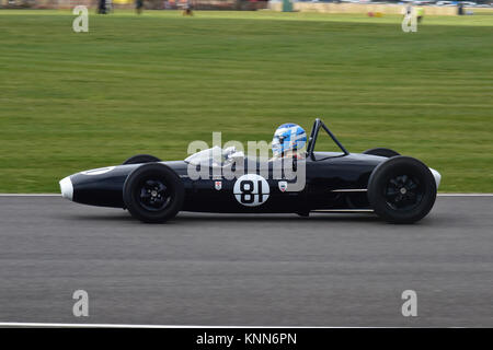 Steve Futter, Lotus-Ford 20, Taylor Trophy,  Goodwood 73rd MM March 2015, 73rd, 73rd Members Meeting, Chris McEvoy, - Stock Photo