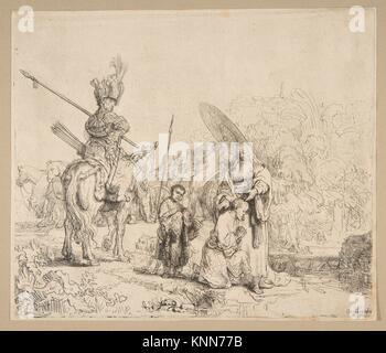 The Baptism of The Eunuch. Artist: Rembrandt (Rembrandt van Rijn) (Dutch, Leiden 1606-1669 Amsterdam); Date: 1641; - Stock Photo