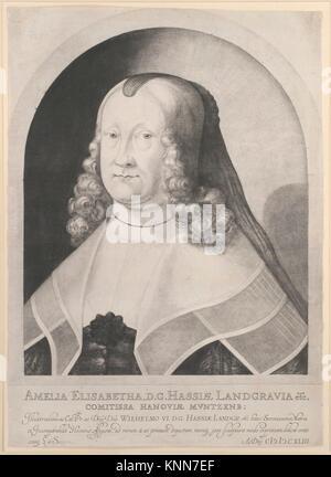 Amelia Elizabeth, Landgravine of Hesse. Artist: Ludwig von Siegen (German, 1609-after 1676); Date: 17th century; - Stock Photo