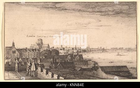 London from Arundel House. Series/Portfolio: Prospectus aliquot locorum in diversis Provincis.; Artist: Wenceslaus - Stock Photo