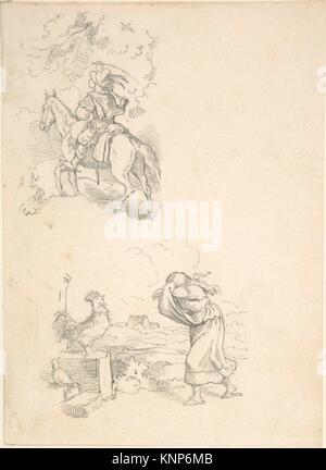 Two Designs for Illustration. Artist: Adrian Ludwig Richter (German, Dresden 1803-1884 Dresden); Date: 1820-84; - Stock Photo
