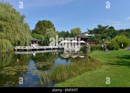 Chinese garden, IGA, Marzahn, Berlin, Germany, Chinesischer Garten, Deutschland - Stock Photo
