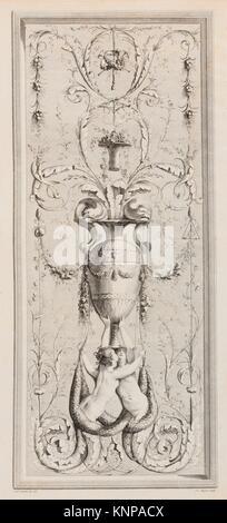 Recueil d'Ornemens A l'Usage des Jeunes Artistes qui se destinent à la décoration des bâtimens. Artist and publisher: - Stock Photo