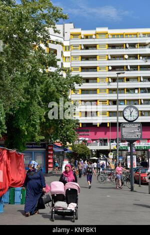 Kreuzberger centre, Kottbusser gate, cross mountain, Berlin, Germany, Kreuzberger Zentrum, Kottbusser Tor, Kreuzberg, - Stock Photo
