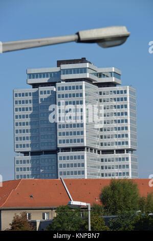 German pension scheme, dam Hohenzollern, village Wilmers, Berlin, Germany, Deutsche Rentenversicherung, Hohenzollerndamm, - Stock Photo