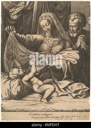 The Madonna of Loreto. Artist: Giorgio Ghisi (Italian, Mantua ca. 1520-1582 Mantua); Artist: After Raphael (Raffaello - Stock Photo