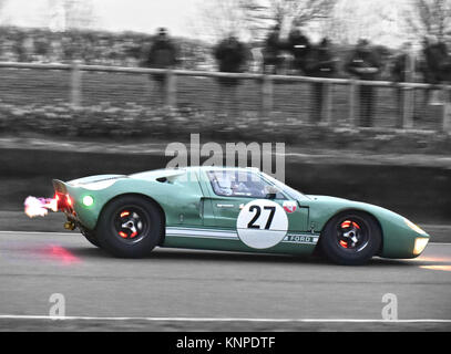 Michael Gans, Andrew Wolfe, Ford GT40, Alan Mann Trophy, Goodwood 74th Members Meeting, 74th Meeting, March 2016, - Stock Photo