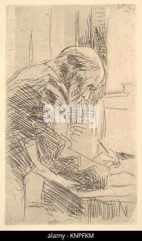 The Printmaker. Artist: Édouard Vuillard (French, Cuiseaux 1868-1940 La Baule); Date: late 19th-mid-20th century; - Stock Photo