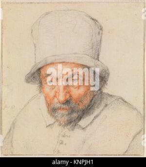 Head of a Bearded Man in a Hat. Artist: Adriaen van Ostade (Dutch, Haarlem 1610-1685 Haarlem); Date: ca. 1650; Medium: - Stock Photo