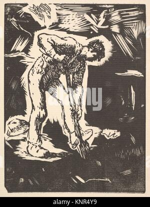 Digger. Artist: Jean-François Millet (French, Gruchy 1814-1875 Barbizon); Date: 1863; Medium: Woodcut on laid paper; - Stock Photo