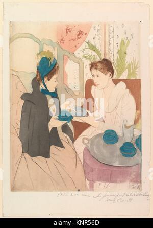 Afternoon Tea Party. Artist: Mary Cassatt (American, Pittsburgh, Pennsylvania 1844-1926 Le Mesnil-Théribus, Oise); - Stock Photo