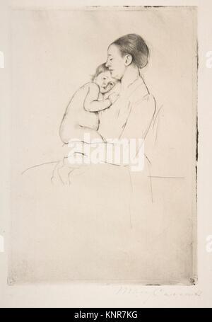 Quietude. Artist: Mary Cassatt (American, Pittsburgh, Pennsylvania 1844-1926 Le Mesnil-Théribus, Oise); Date: ca. - Stock Photo