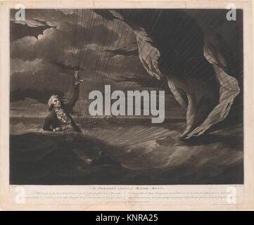 The Perilous Situation of Major Mony, When He Fell into the Sea with His Balloon on the 23rd of July, 1785, Off - Stock Photo