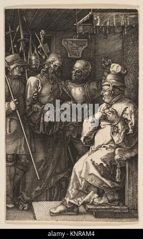 Christ before Caiaphas, from The Passion. Artist: Albrecht Dürer (German, Nuremberg 1471-1528 Nuremberg); Date: - Stock Photo