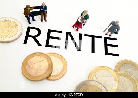 Symbolbild Rente - Stock Photo