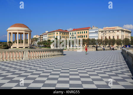 Livorno, Terrazza Mascagni, Tuscany, Italy Stock Photo, Royalty ...