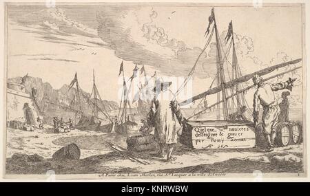 title page, Quelque navieres deisseigner & graver par Remy Zeeman. Artist: Reinier Nooms, called Zeeman (Dutch, - Stock Photo