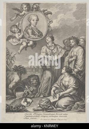 Portrait of the future Holy Roman Emperor Leopold II as the Archduke of Austria and Grand Duke of Tuscany, set within - Stock Photo