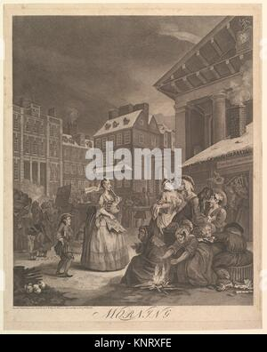 Morning (The Four Times of Day). Artist: William Hogarth (British, London 1697-1764 London); Date: March 25, 1738; - Stock Photo