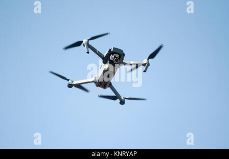 DJI MAVIC Pro compact drone: UAV in flight - Stock Photo