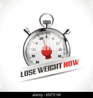 Lost your weight concept - stopwatch as body weight scales – stock illustration - Stock Photo