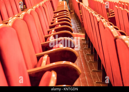 Red armchairs in the concert hall - Stock Photo