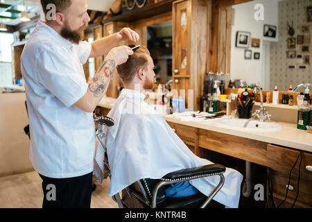 Hair beard and mustache treatment - Stock Photo