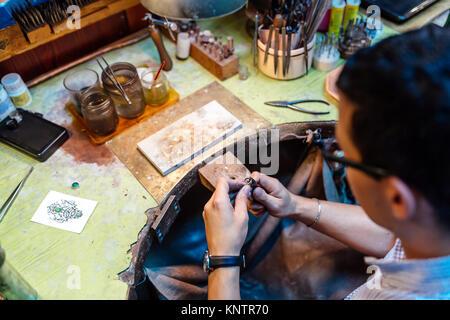 Jeweler working - Stock Photo