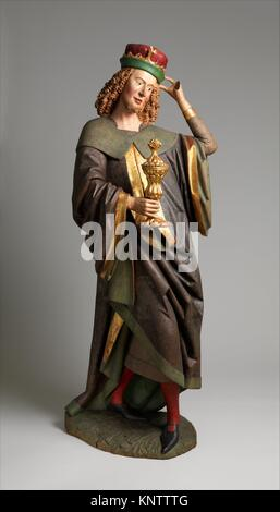 Balthasar of the Three Kings from an Adoration Group. Date: before 1489; Geography: Made in Swabia, Germany; Culture: - Stock Photo