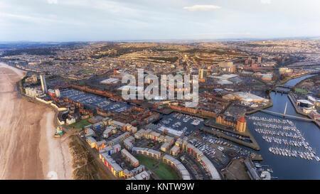 Swansea City Marina development - Stock Photo