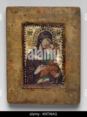 Portable Icon with the Virgin Eleousa. Date: early 1300s; Geography: Made in probably Constantinople; Culture: Byzantine; - Stock Photo