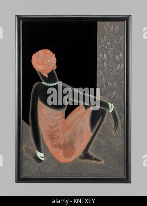 African Woman. Designer: Jean Dunand (French (born Switzerland), Lancy 1877-1942 Paris); Date: 1928-30; Medium: - Stock Photo