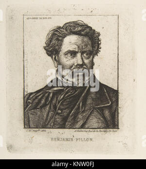 Benjamin Fillon, after a photograph MET DP813242 377943 Artist: Charles Meryon, French, 1821?1868, Sitter: Portrait - Stock Photo