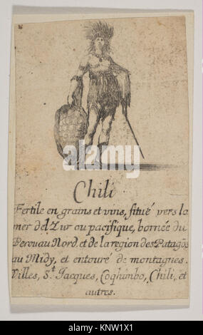 Chile, from 'Game of Geography' (Jeu de la Géographie) MET DP818183 382694 Artist: Etched by Stefano della Bella, - Stock Photo