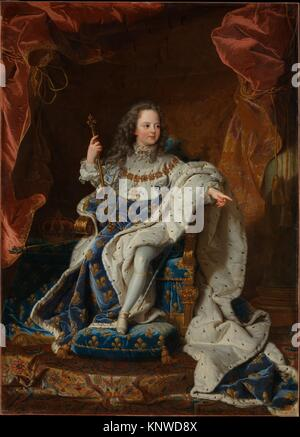 Louis XV (1710-1774) at the Age of Five in the Costume of the Sacre. Artist: Hyacinthe Rigaud (French, Perpignan - Stock Photo