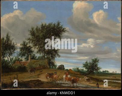 A Country Road. Artist: Salomon van Ruysdael (Dutch, Naarden, born ca. 1600-1603, died 1670 Haarlem); Date: 1648; - Stock Photo