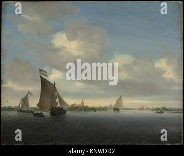 Marine. Artist: Salomon van Ruysdael (Dutch, Naarden, born ca. 1600-1603, died 1670 Haarlem); Date: 1650; Medium: - Stock Photo