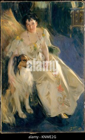 Mrs. Walter Rathbone Bacon (Virginia Purdy Barker, 1862-1919). Artist: Anders Zorn (Swedish, Mora 1860-1920 Mora); - Stock Photo