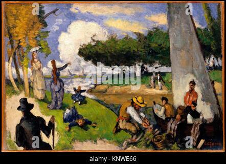 The Fishermen (Fantastic Scene). Artist: Paul Cézanne (French, Aix-en-Provence 1839-1906 Aix-en-Provence); Date: - Stock Photo