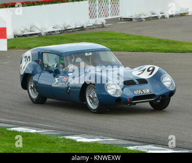 Joe Twyman, James Littlejohn, Lotus 11 GT, Breadvan, 655 XUF, RAC TT Celebration, Goodwood Revival 2014, 2014, Goodwood - Stock Photo