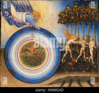 The Creation of the World and the Expulsion from Paradise. Artist: Giovanni di Paolo (Giovanni di Paolo di Grazia) - Stock Photo