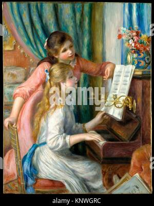 Two Young Girls at the Piano. Artist: Auguste Renoir (French, Limoges 1841-1919 Cagnes-sur-Mer); Date: 1892; Medium: - Stock Photo