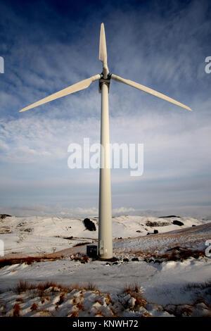 Bonus Turbines at Ventient energy's Nant yr Arian site - Stock Photo