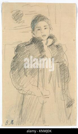 Study for Young Girl in a Green Coat. Artist: Berthe Morisot (French, Bourges 1841-1895 Paris); Date: ca. 1894; - Stock Photo