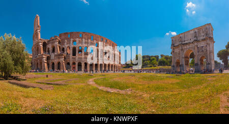 Colosseum or Coliseum in Rome, Italy. - Stock Photo