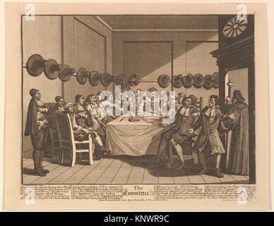 The Committee (Twelve Large Illustrations for Samuel Butler´s Hudbras, Plate 10). Artist: William Hogarth (British, - Stock Photo